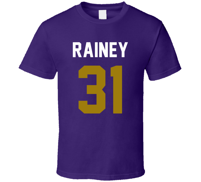 Jersey Back Bobby Rainey Baltimore Football Team Fan For Purple T Shirt