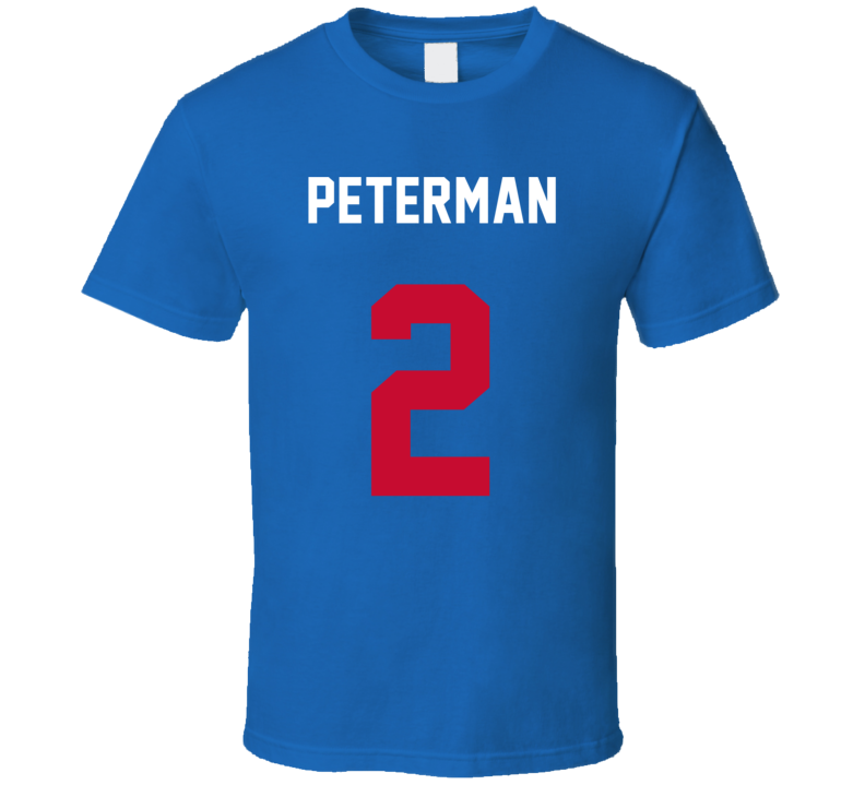 Jersey Back Nathan Peterman Buffalo Football Team Fan For Blue T Shirt