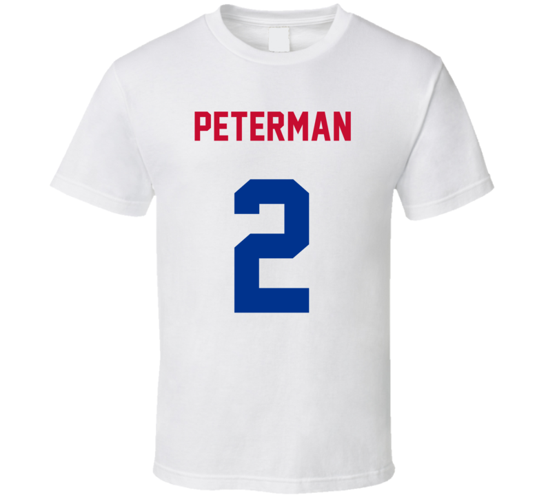 Jersey Back Nathan Peterman Buffalo Football Team Fan For White T Shirt