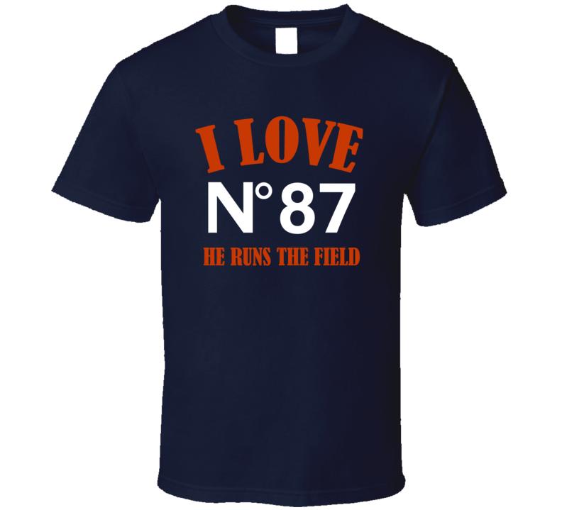 I Love Adam Shaheen He Runs The Field Chicago Football Team Fan T Shirt