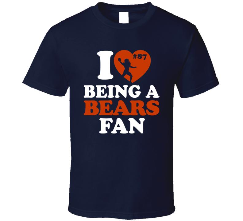 I Love Being A Fan Adam Shaheen Chicago Football Team Fan T Shirt