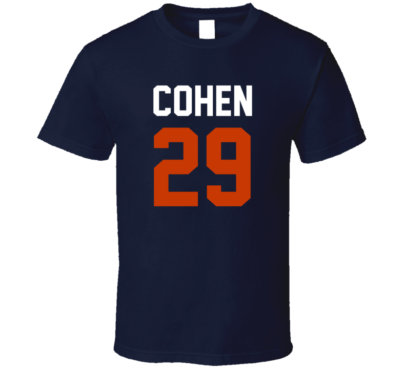 Jersey Back Tarik Cohen Chicago Football Team Fan For Navy T Shirt