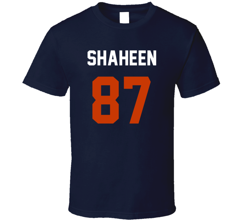 Jersey Back Adam Shaheen Chicago Football Team Fan For Navy T Shirt