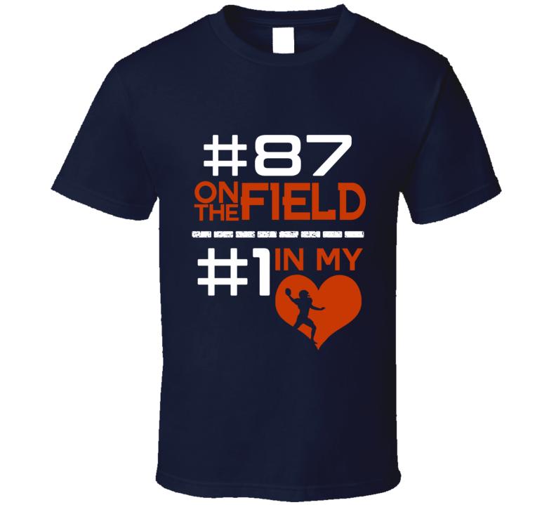 Number One In My Heart Adam Shaheen Chicago Football Team Fan T Shirt