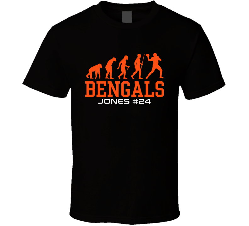 Evolution Adam Jones Cincinnati Football Team Fan T Shirt
