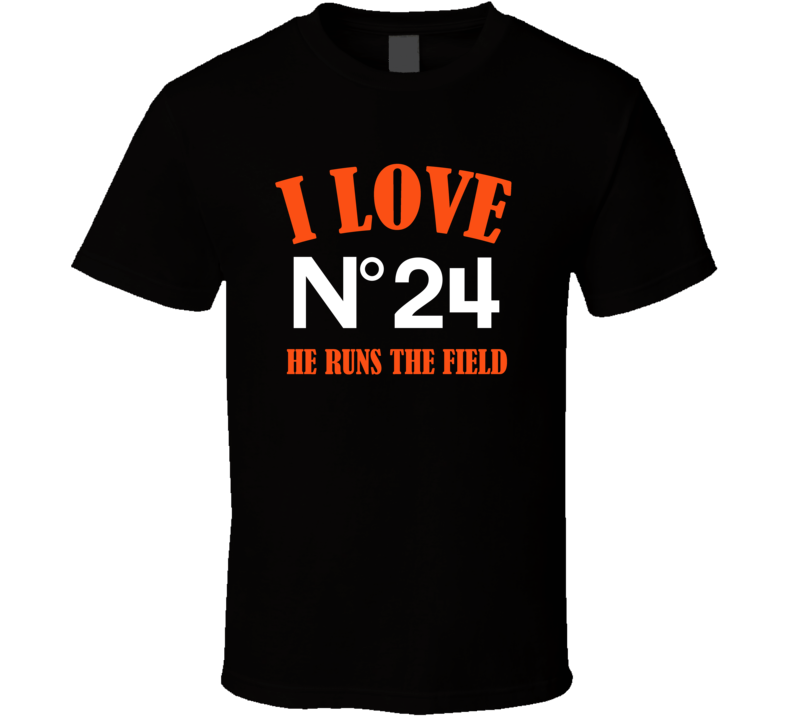 I Love Adam Jones He Runs The Field Cincinnati Football Team Fan T Shirt
