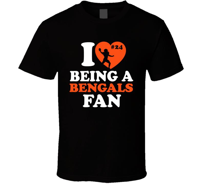I Love Being A Fan Adam Jones Cincinnati Football Team Fan T Shirt