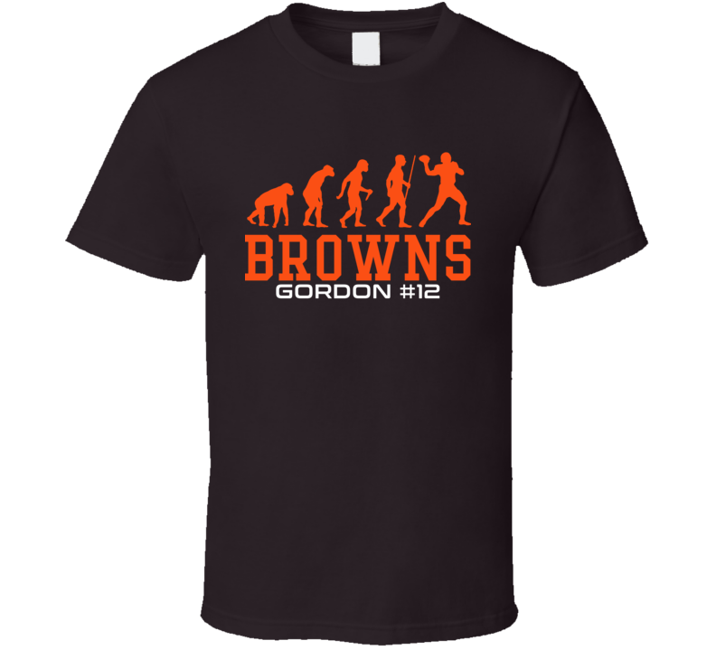 Evolution Josh Gordon Cleveland Football Team Fan T Shirt