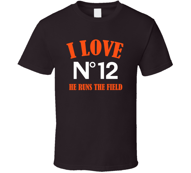 I Love Josh Gordon He Runs The Field Cleveland Football Team Fan T Shirt