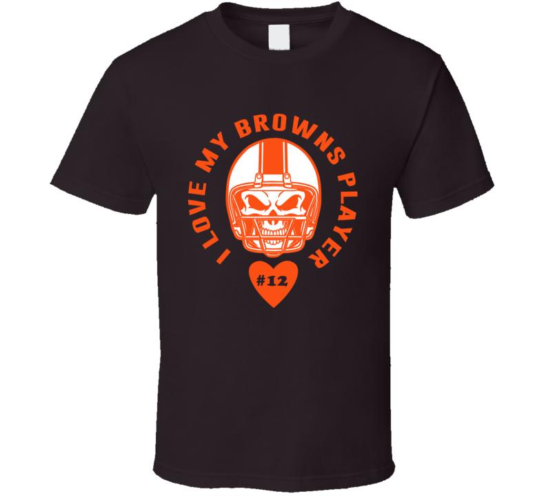 I Love My Player Josh Gordon Cleveland Football Team Fan T Shirt