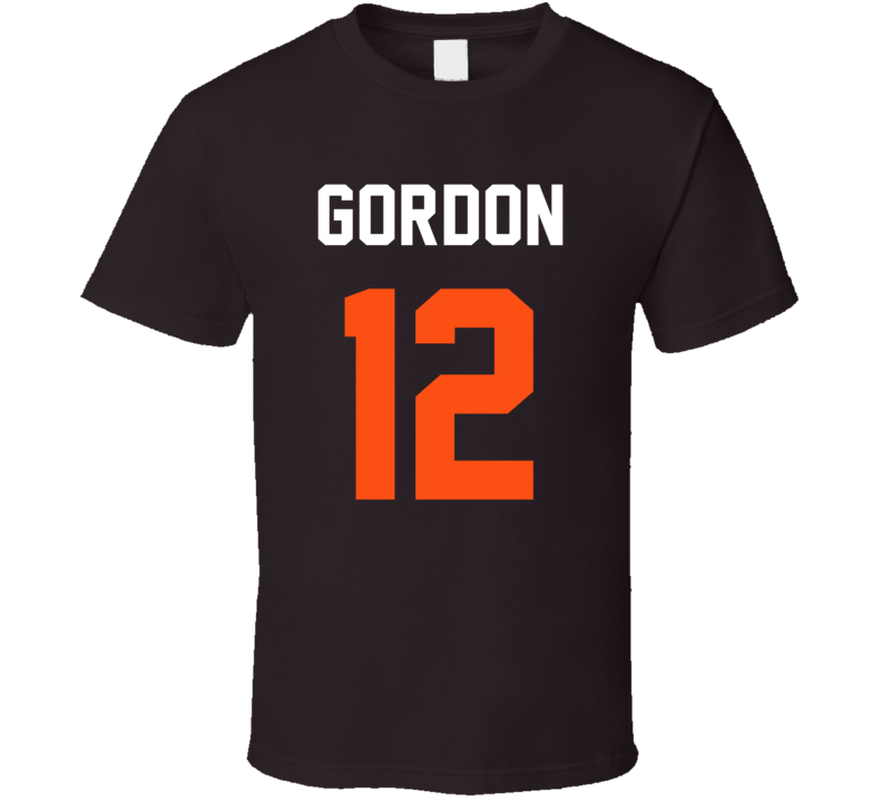 Jersey Back Josh Gordon Cleveland Football Team Fan For Brown T Shirt