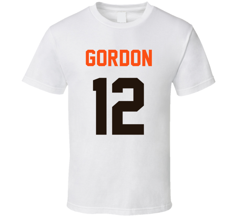 Jersey Back Josh Gordon Cleveland Football Team Fan For White T Shirt
