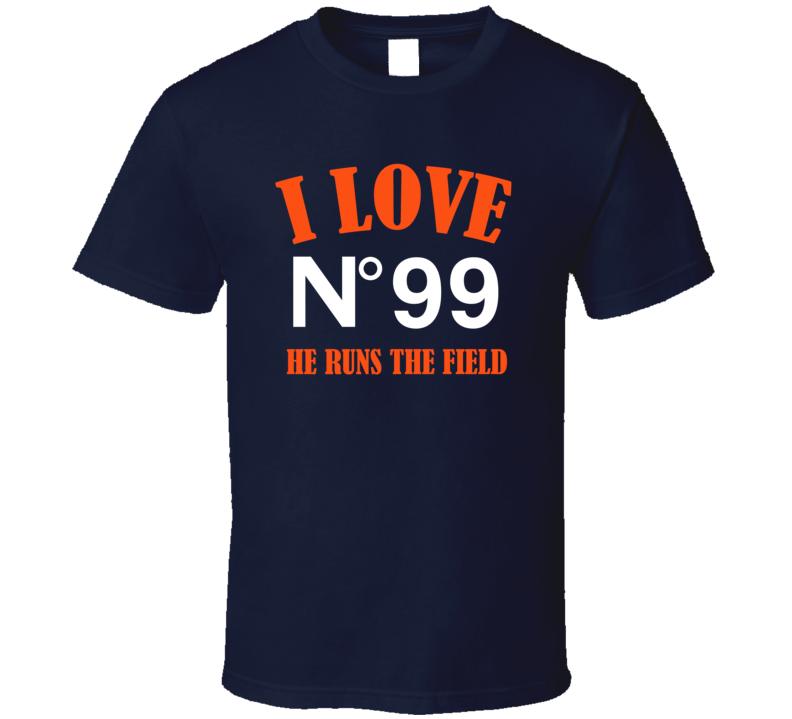 I Love Adam Gotsis Denver Football Team Fan T Shirt