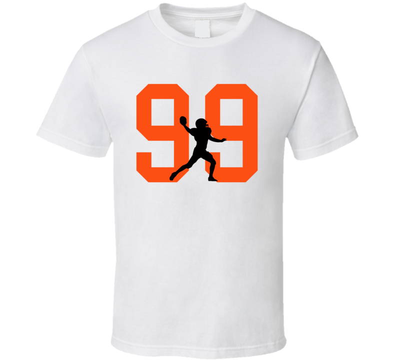 Silhouette Adam Gotsis Denver Football Team Fan T Shirt