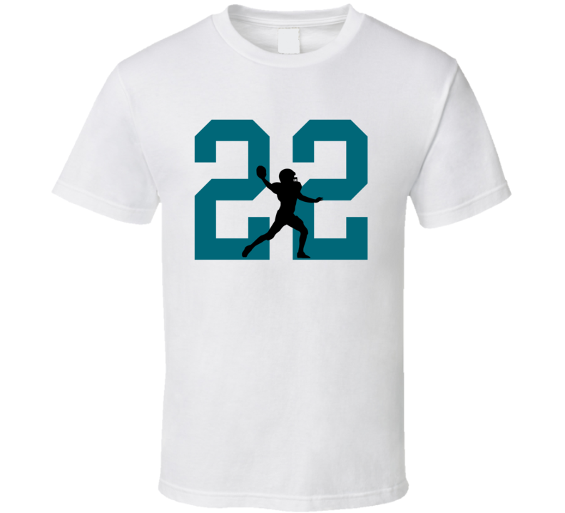 Silhouette Aaron Colvin Jacksonville Football Team Fan T Shirt