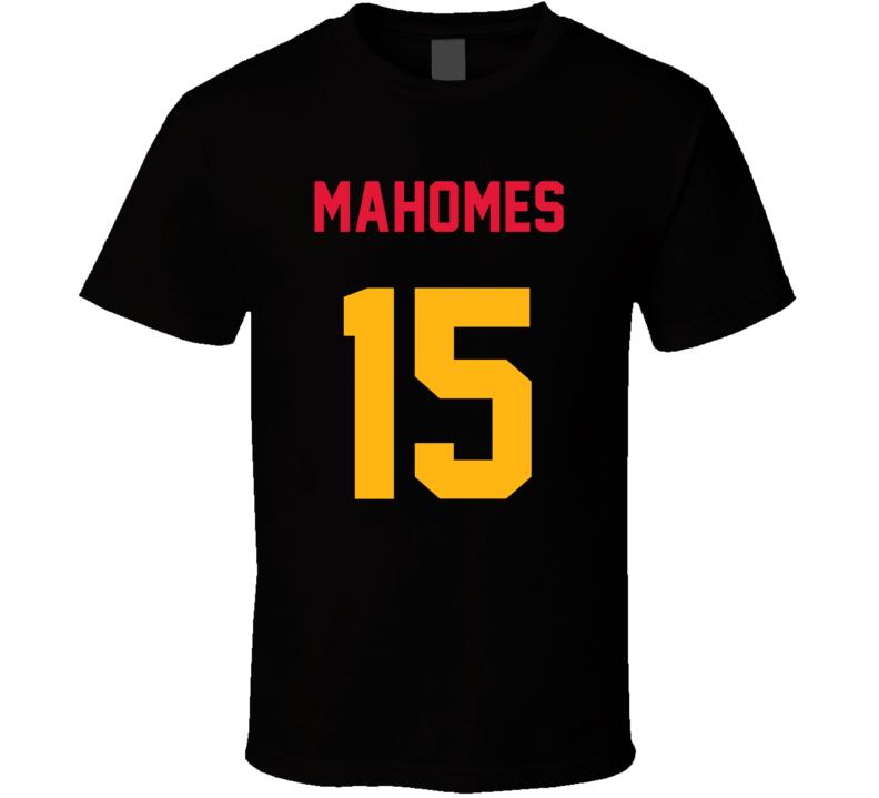 Jersey Back Patrick Mahomes Kansas City Football Team Fan For Black T Shirt
