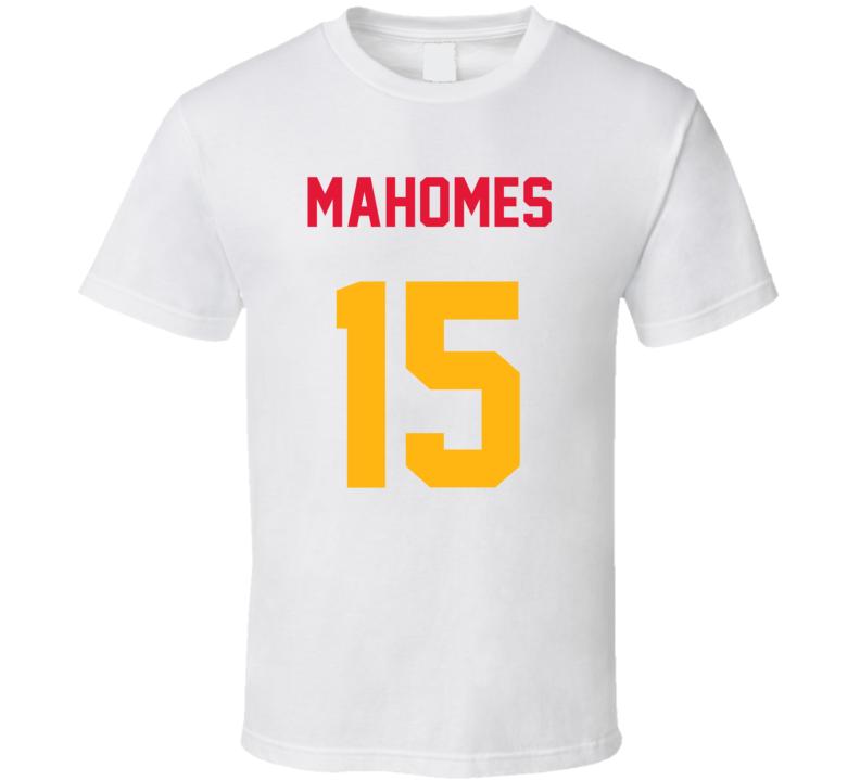 Jersey Back Patrick Mahomes Kansas City Football Team Fan For White T Shirt