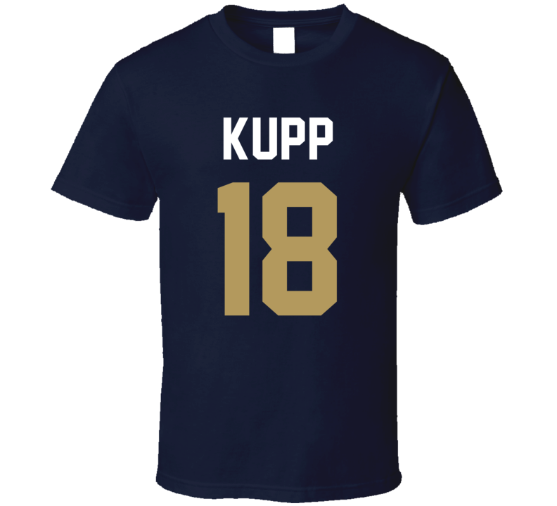 Jersey Back Cooper Kupp Los Angeles R Football Team Fan For Navy T Shirt