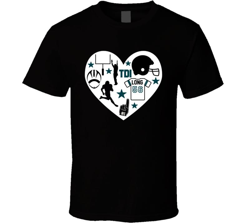 Chris Long # 56 Philadelphia Football Icon Heart Mashup T Shirt