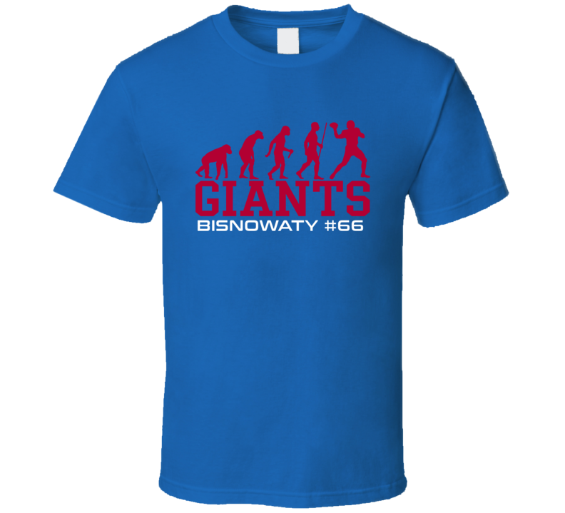 Adam Bisnowaty # 66 New York G Football Evolution Sports Athlete T Shirt