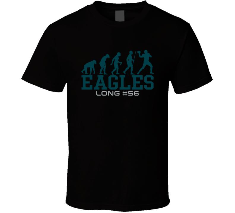 Chris Long # 56 Philadelphia Football Evolution Sports Athlete T Shirt