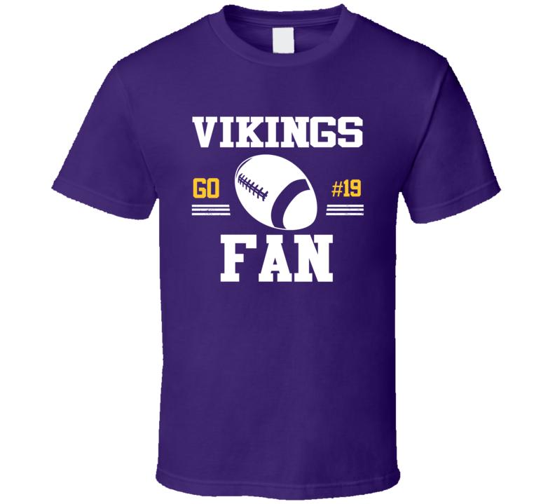 Adam Thielen # 19 Minnesota Football Go Team Fan Sports T Shirt