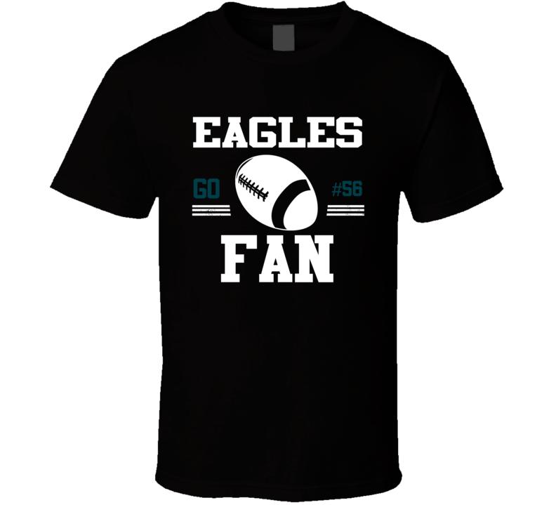 Chris Long # 56 Philadelphia Football Go Team Fan Sports T Shirt