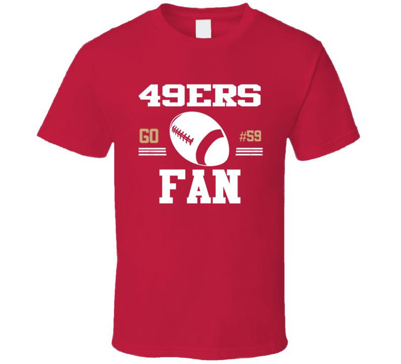 Aaron Lynch # 59 San Francisco Football Go Team Fan Sports T Shirt