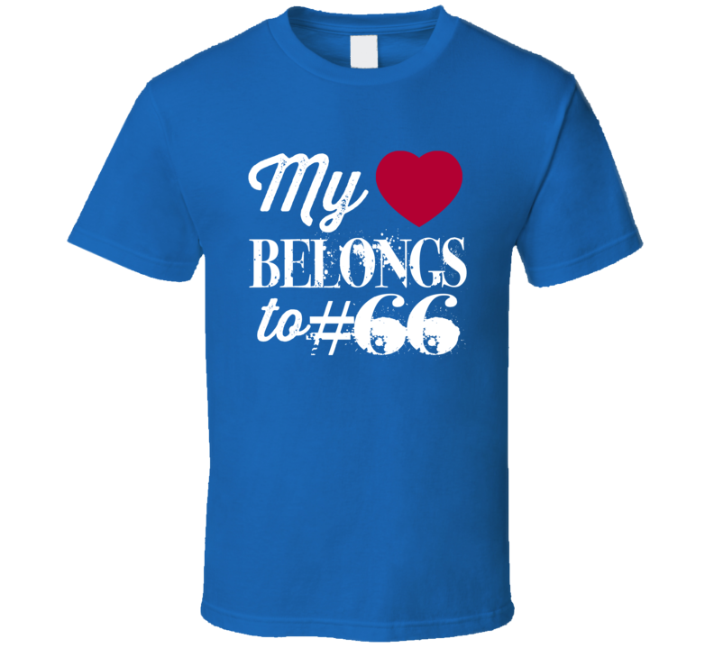 Adam Bisnowaty # 66 My Heart Belongs To New York G Football Sports Athlete T Shirt