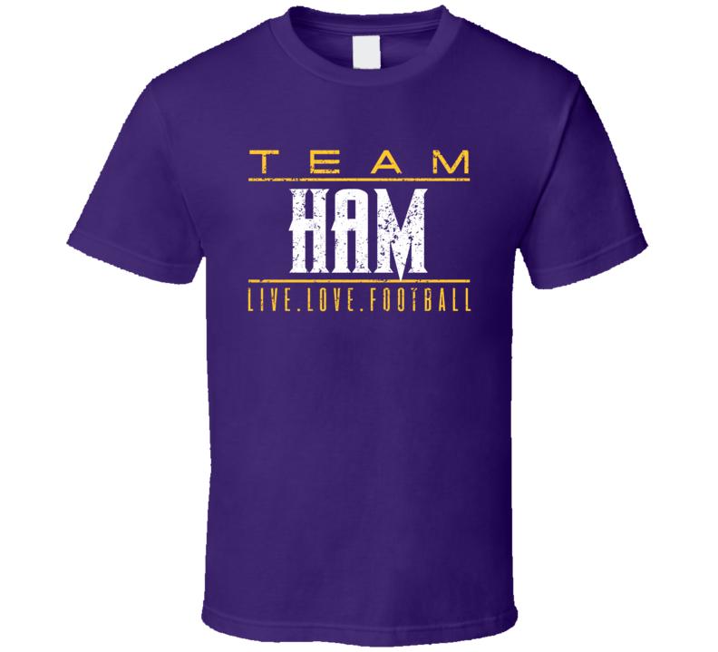 C.j. Ham Live Love Minnesota Football Sports Athlete T Shirt