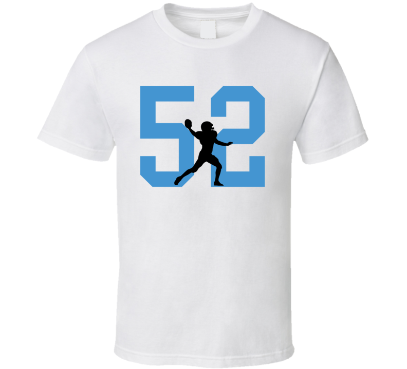 Aaron Wallace # 52 Silhouette Player Tennessee Football Sports Fan T Shirt