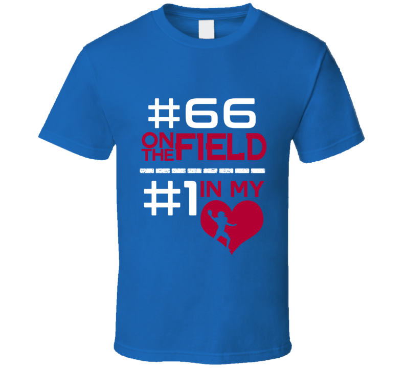 Adam Bisnowaty # 66 On The Field # 1 In My Heart New York G Football Sports Athlete T Shirt