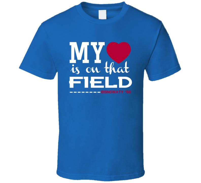 Adam Bisnowaty # 66 My Heart Is On That Field New York G Football Sports Fan T Shirt