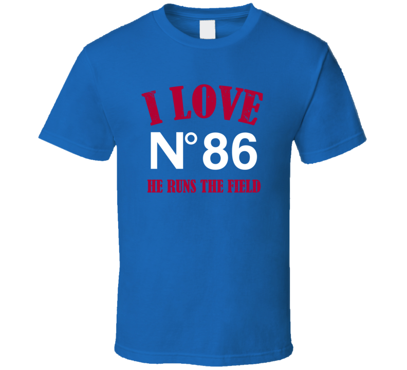 Marquis Bundy # 86 I Love When He Runs The Field New York G Football Sports Athlete T Shirt