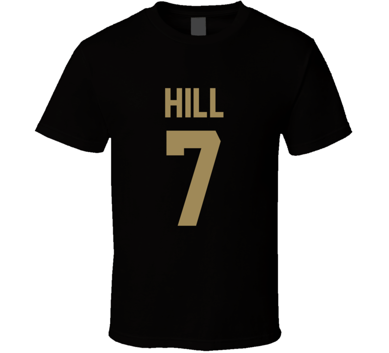 Taysom Hill # 7 Jersey Back New Orleans Football Team Fan For Black T Shirt