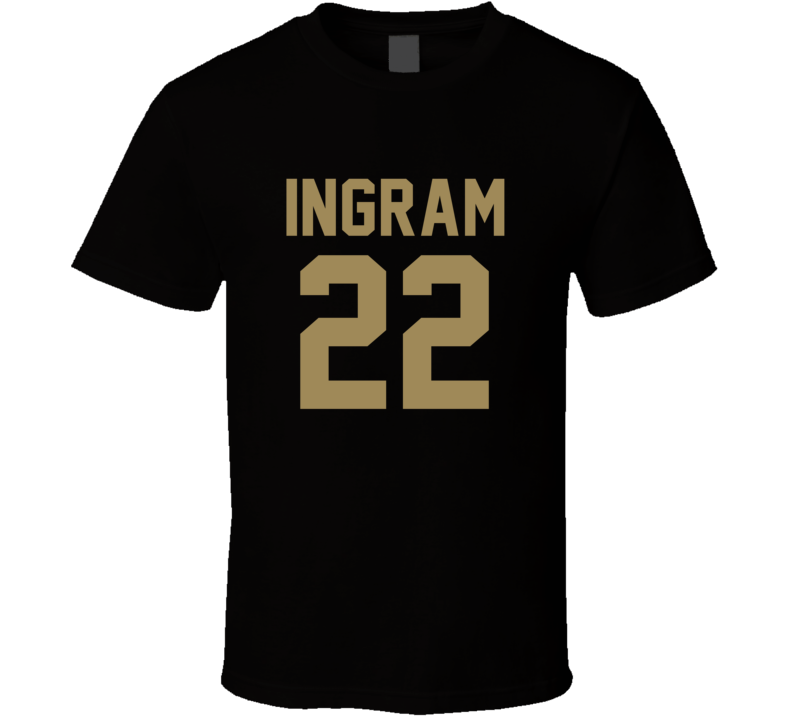 Mark Ingram # 22 Jersey Back New Orleans Football Team Fan For Black T Shirt