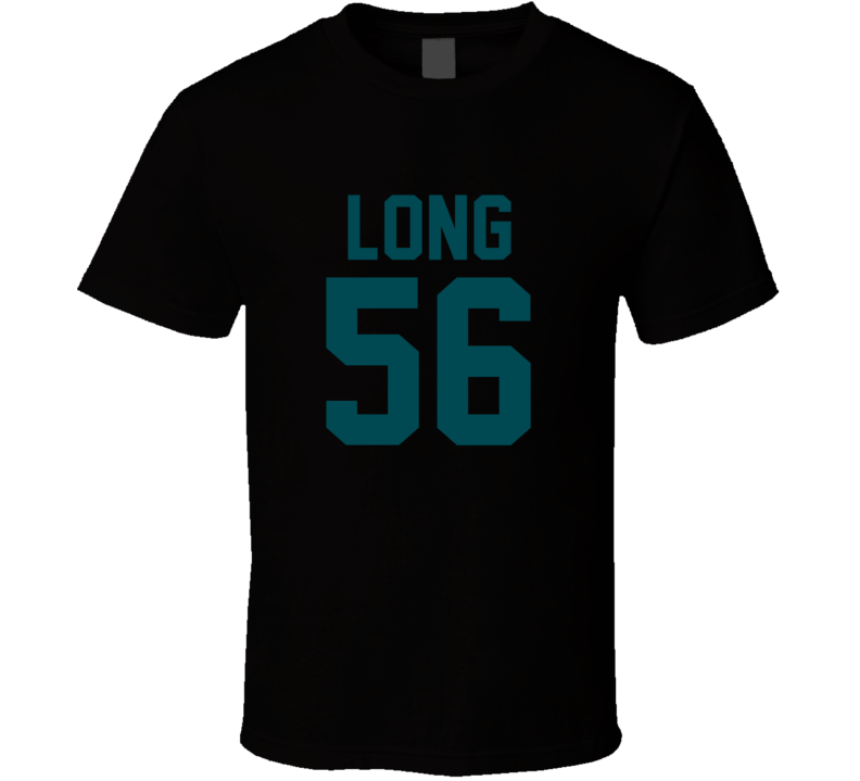 Chris Long # 56 Jersey Back Philadelphia Football Team Fan For Black T Shirt