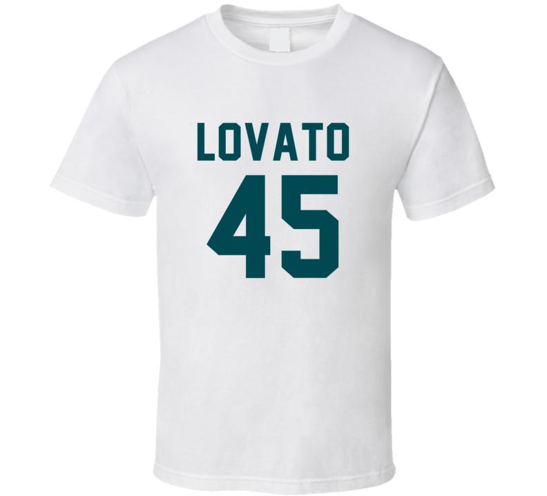 Rick Lovato # 45 Jersey Back Philadelphia Football Team Fan For White T Shirt