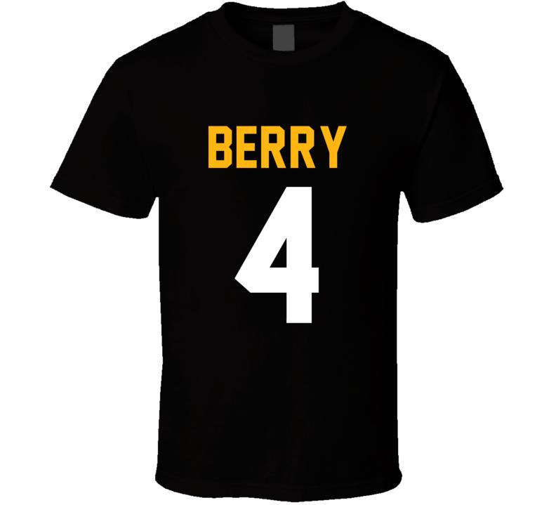 Jordan Berry # 4 Jersey Back Pittsburgh Football Team Fan For Black T Shirt