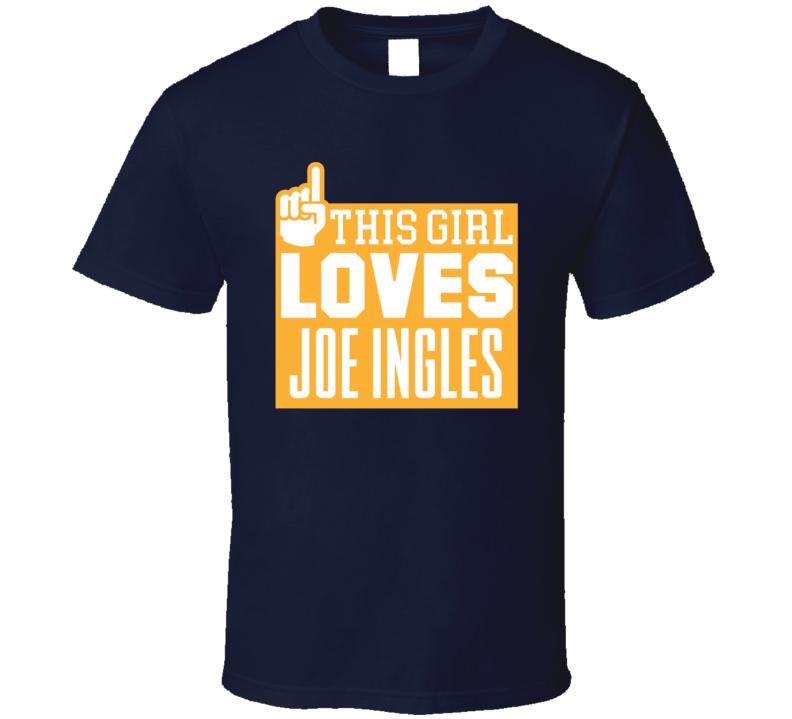 Joe Ingles #2 Utah Basketball This Girl Loves Team Fan Sports T Shirt