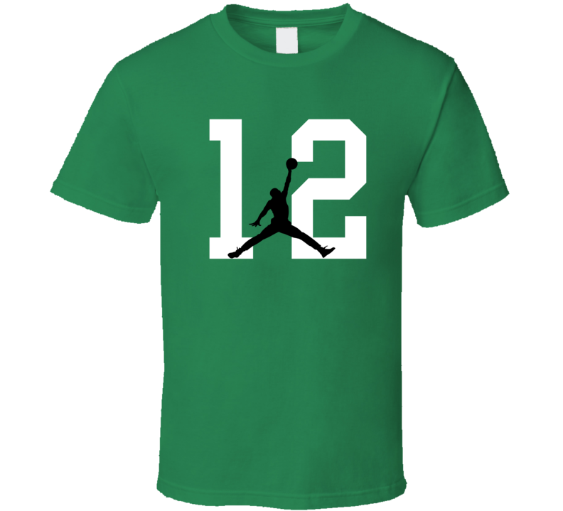 Terry Rozier #12 Boston Basketball Silhouette Player Sports Fan T Shirt