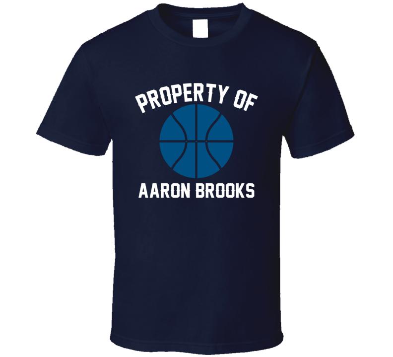 Aaron Brooks Property Of Minnesota Basketball Sports Athlete T Shirt