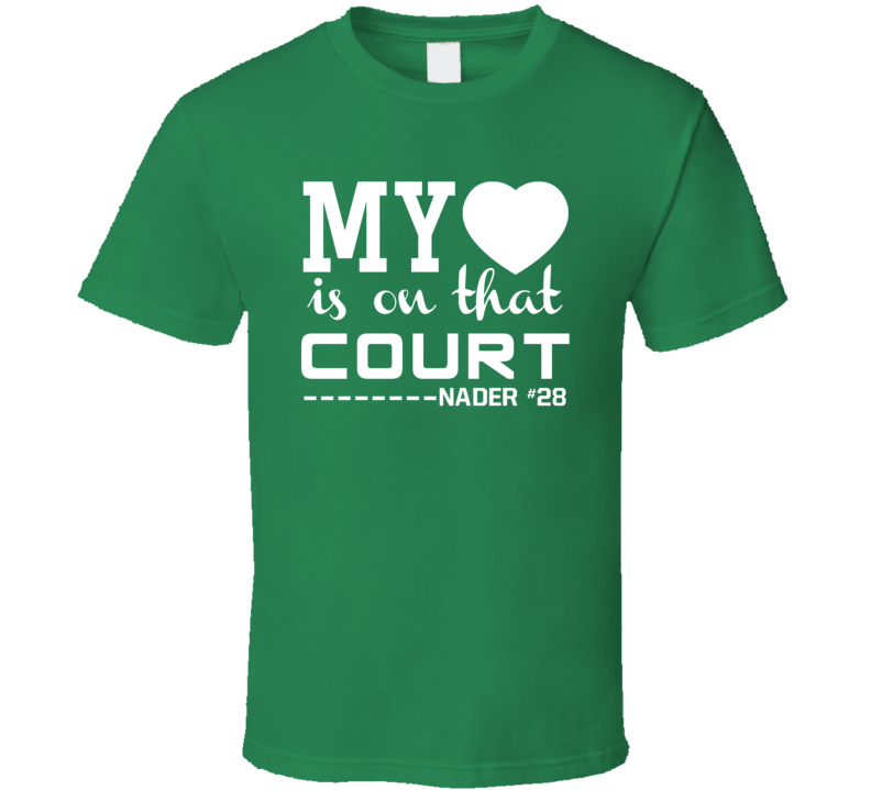 Abdel Nader #28 My Heart Is On That Court Boston Basketball Sports Fan T Shirt