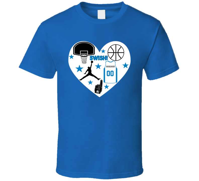 Aaron Gordon Orlando Basketball Icon Heart Mashup T Shirt