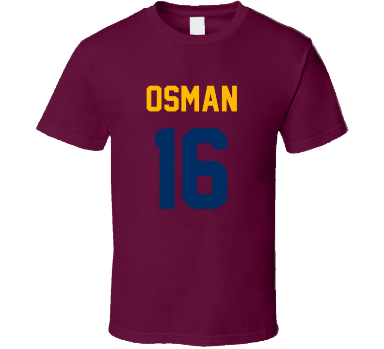 Cedi Osman Jersey Back Cleveland Basketball Team Fan For Burgundy T Shirt