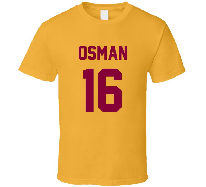 Cedi Osman Jersey Back Cleveland Basketball Team Fan For Gold T Shirt