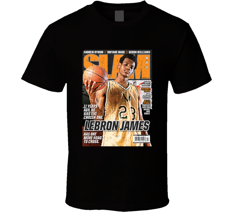 Slam Magazine Issue 159 Lebron James Popular Basketball Magazine Grunge Look T Shirt