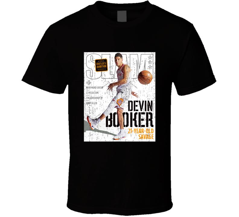 Slam Magazine Issue 213 Devin Booker Popular Basketball Magazine Grunge Look T Shirt
