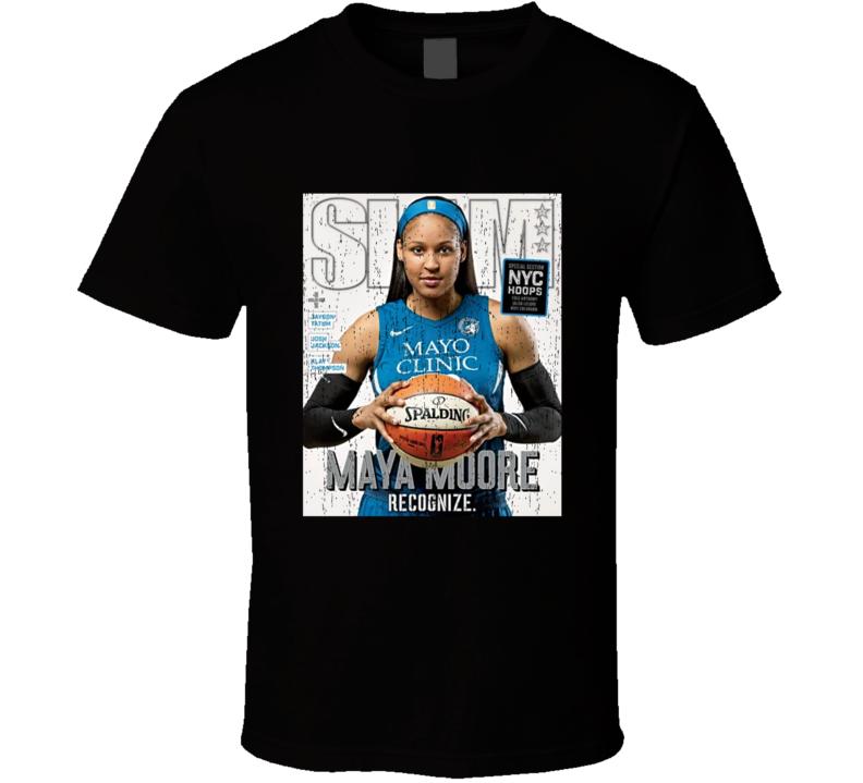 Slam Magazine Issue 217 Maya Moore Popular Basketball Magazine Grunge Look T Shirt