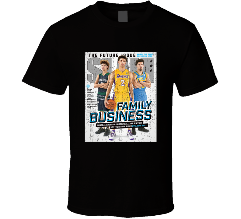 Slam Magazine Issue 211 Liangelo Lamelo And Lonzo Ball Popular Basketball Magazine Grunge Look T Shirt